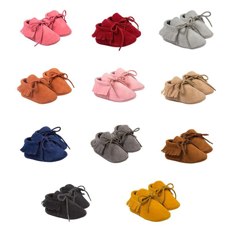 Mother & Kids ... Baby Shoes ... 32688131716 ... 2 ... Kacakid Baby Shoes PU Suede Leather Newborn Baby Boy Girl Moccasins Soft Shoes Fringe Soled Non-slip Crib First Walkers Shoes ...