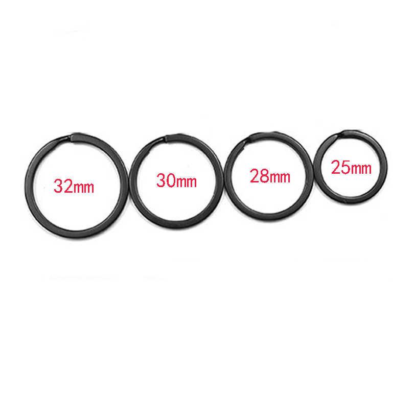 10 pcs Keyring Do Metal Rodada Dividir Chave Anéis Cadeia 32 30 28 25 10mm mm mm mm mm