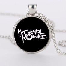 New fashion glass Necklace Image Rock Band My Chemical Romance zinc alloy glass pendant necklaces necklaces for women HZ1