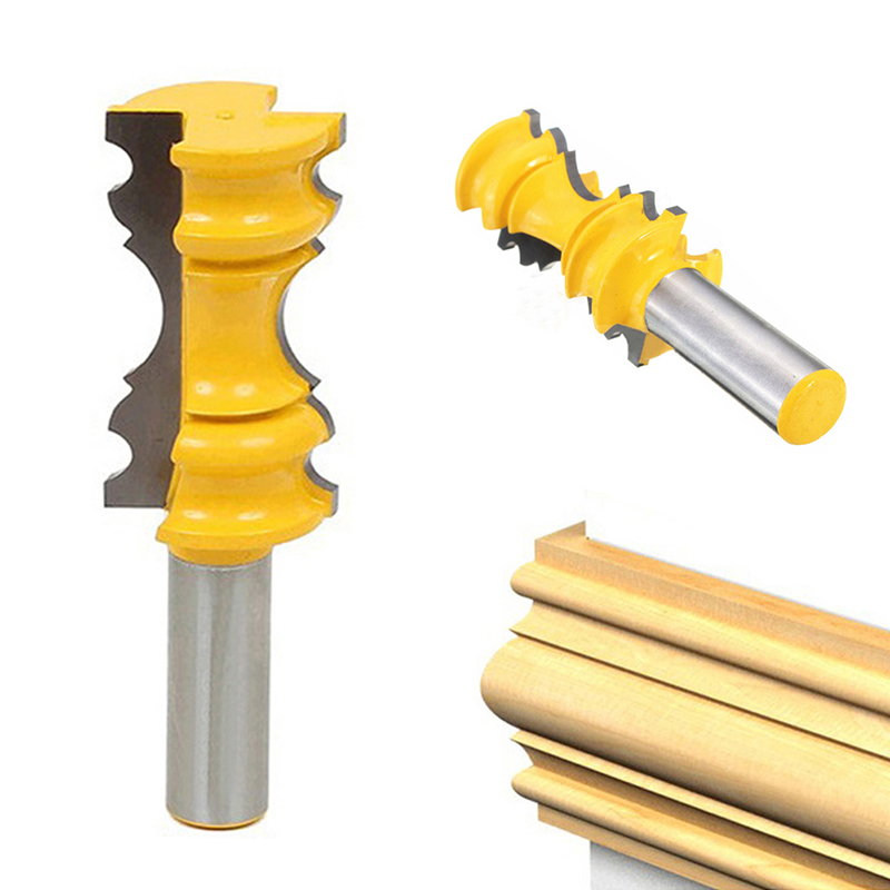 "New 1/2"" Shank Large Elaborate Chair Rail Molding Router Bit For Woodworking"