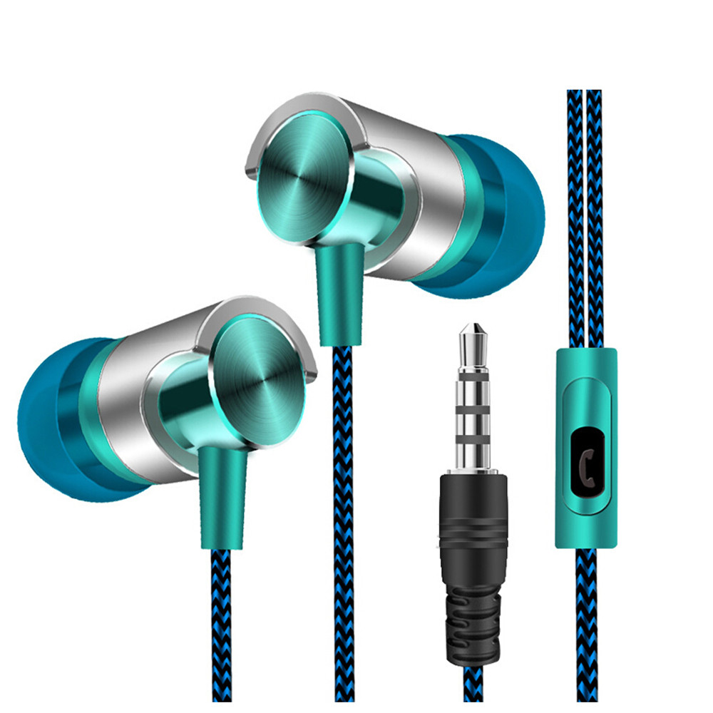 New Universal 3.5mm In Ear Stereo Earbuds Earphone Fone de ouvid With Mic For Samsung iPhone Huawei Cell Phone Drop Ship-in Headphone/Headset from Consumer Electronics