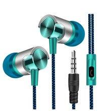 Yeni evrensel 3.5mm kulak Stereo kulaklık kulaklık Fone de ouvid Mic ile Samsung iPhone Huawei için cep telefonu bırak gemi