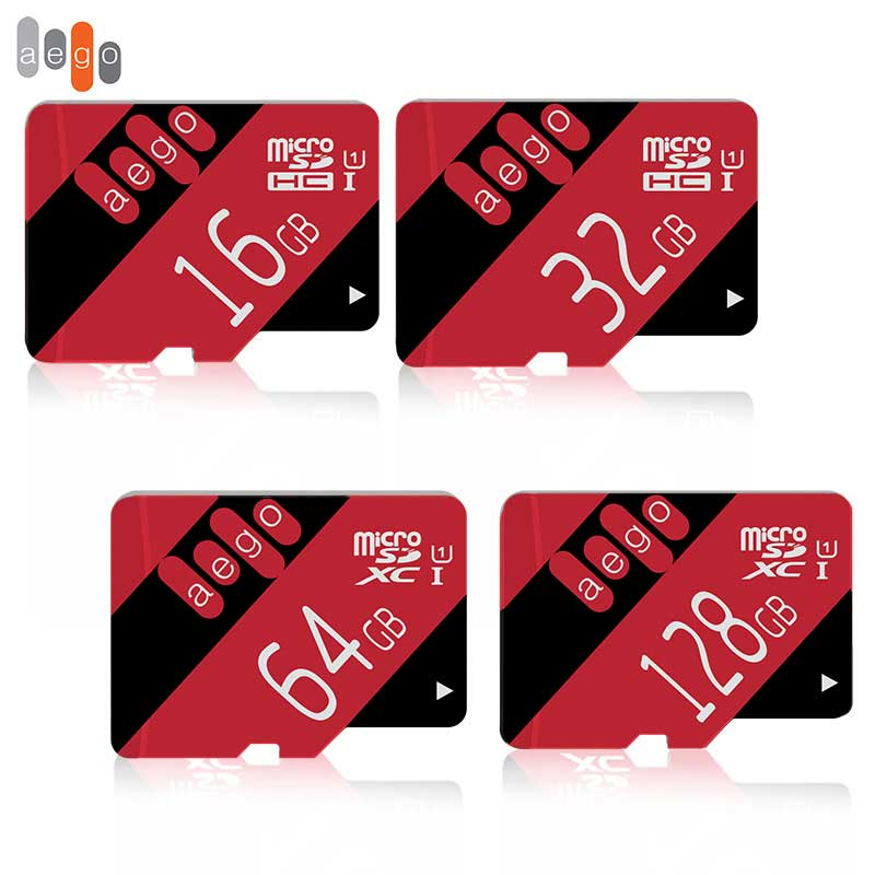 AEGO Micro Sd 32GB Flash Memory Card 600X 8GB 64GB 128GB SDXC Class10 16GB UHS-1 High Speed TF Card For Smartphone Tablet Pad