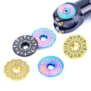 Image 3 - Risk 1 комплект, легкая велосипедная гарнитура из титанового сплава, колпачок + M6 * 30 мм, велосипедная гарнитура, болт, 3 цвета, гарнитура, винт, детали для велосипеда