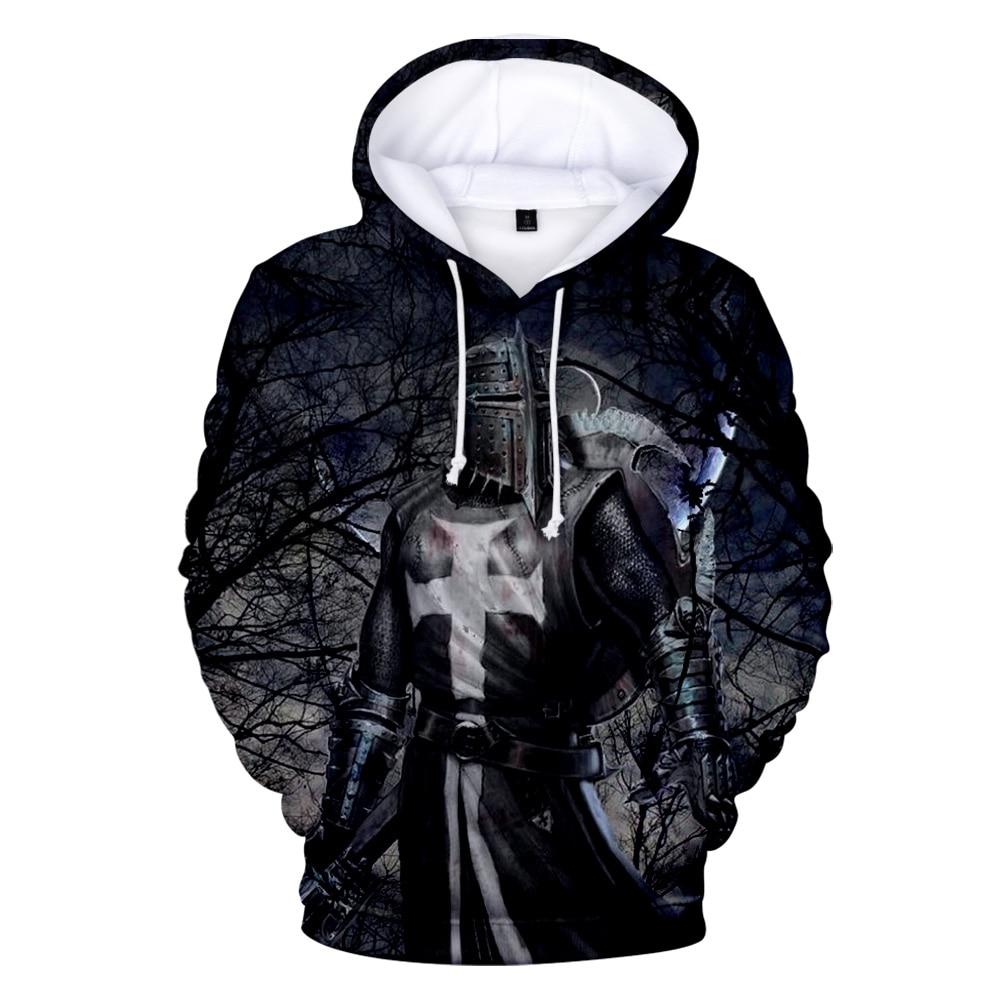 The Knights Templar Mens Sweatshirts Pullover Crew Neck Sweatshirt