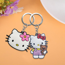 20pcs/lot Hello Kitty PVC Keychain Key Trinket Key Ring Gift For Women Girls Bag Pendant PVC Figure Charms Drive Saft Key Chains цена и фото