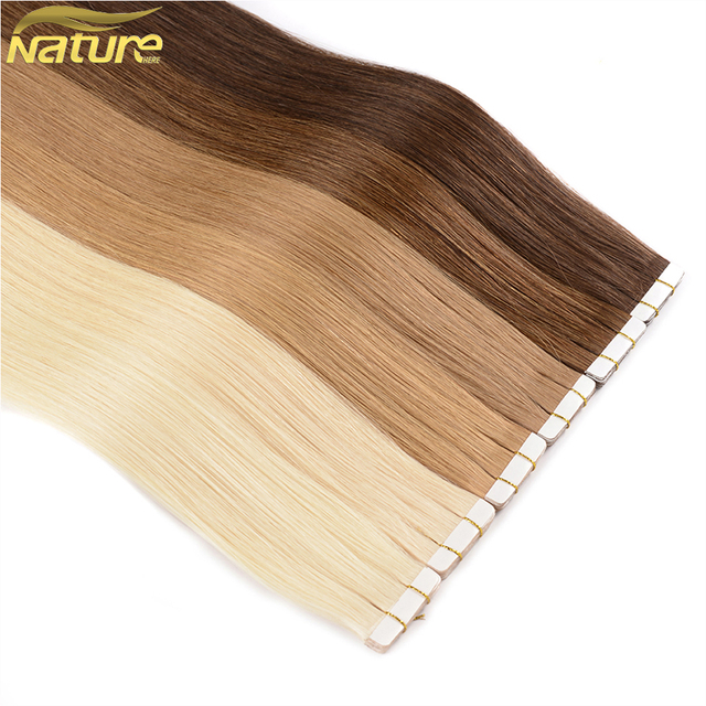Natureher Tape In Human Hair Extensions 24 Remy Hair On Adhesives