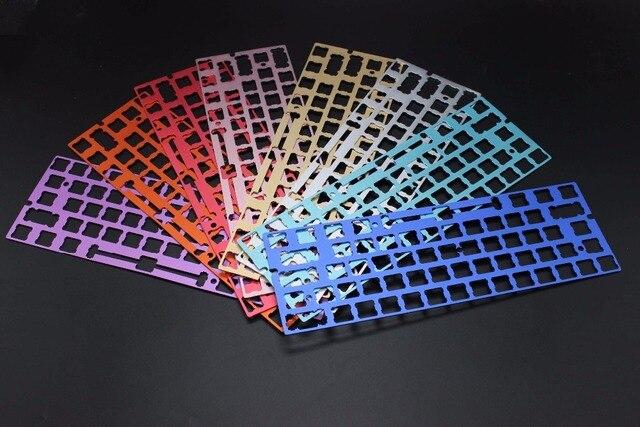 Cool Jazz ANSI Costar stabilisateurs en aluminium anodisé panneau de positionnement Support de plaque pour GH60 60% clavier bricolage livraison gratuite