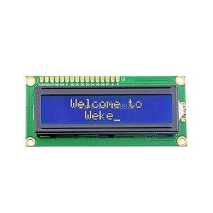Image 2 - Freies Verschiffen 10 teile/los Neue LCD 1602 LCD1602 5V 16x2 Zeichen LCD Display Modul Controller blauen schwarzlicht