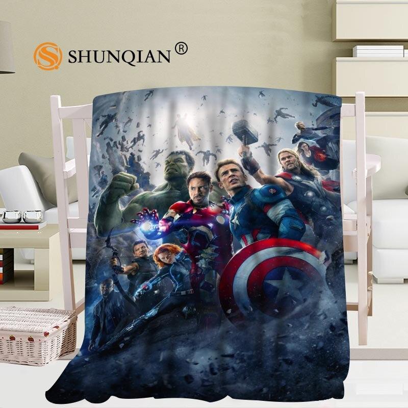Marvels personnalisés Avengers couverture flanelle Fabric56x80inch 50X60 pouces 40X50 pouces canapé-lit jeter couverture enfant adulte couverture chaude