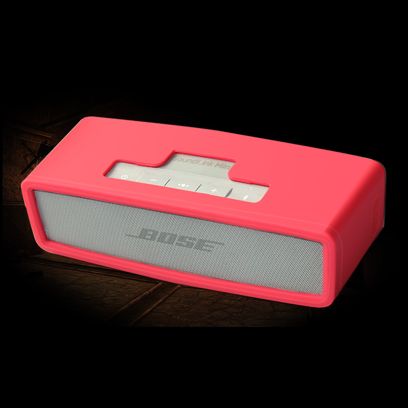 Silica Gel Carry Travel Cover Bag Portable Protective Shell Super Soft Silicone Case for Bose SoundLink Mini Bluetooth Speaker