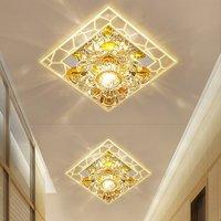 Praça luzes do corredor luzes do corredor varanda sala de lâmpada LED Lâmpadas LED luzes de teto de cristal LU62250 ZL408|ceiling lights crystal|led ceiling light crystal|light crystal -