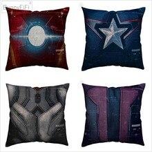 Супергерой Броня Марвел из Мстителей арт хлопок белье Наволочка 45×45 см для дивана наволочка для подушки стула домашний декор Almofada