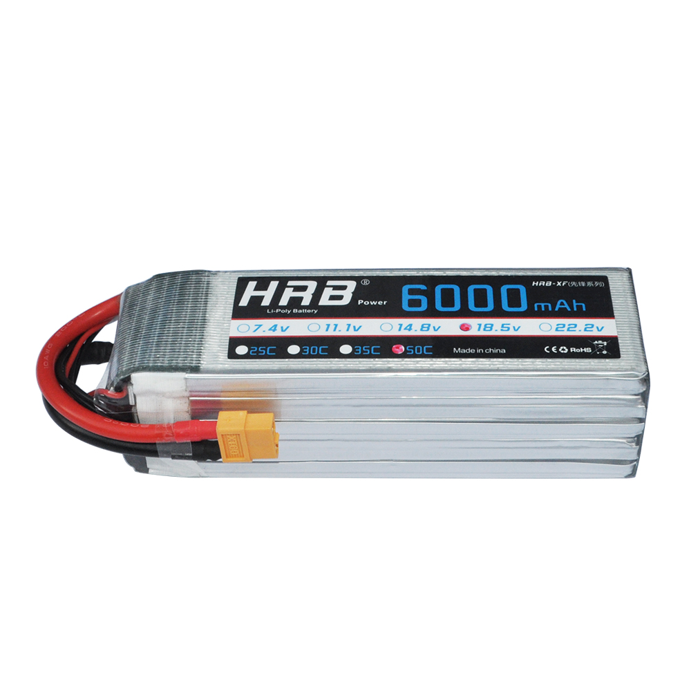 HRB RC Lipo แบตเตอรี่ 5S 18.5V 6000mAh 50C พร้อม XT60 สำหรับเฮลิคอปเตอร์ RC รถ Li polymer แบตเตอรี่ Drone FPV AKKU-ใน ชิ้นส่วนและอุปกรณ์เสริม จาก ของเล่นและงานอดิเรก บน   2