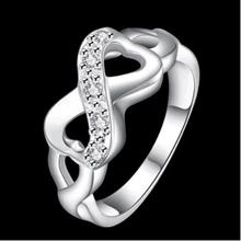 Fashion Popular Closed 925 Silver Ring Girls Silver Jewelry Gift Decorations JZ43