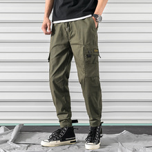 купить 2019 Mens Cargo Pants Casual Multi-Pocket Tactical Baggy Trousers Male Joggers Pants Military Camouflage Harem Sweatpants M-2XL дешево
