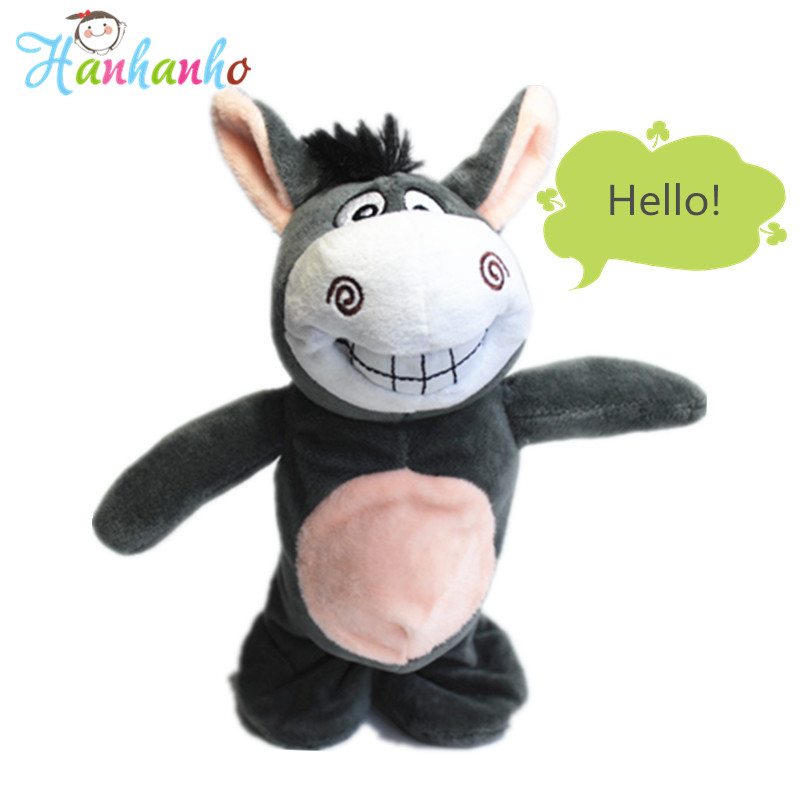 2018 New Talking Walking Donkey Plush Toy Electronic Kids Interactive Doll Talking Hamster Creative Gift