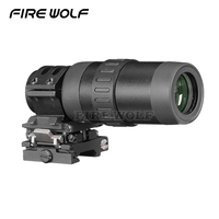 FIRE WOLF Scope 1.5 5 Zoom Magnifier For Red Dot Sight 3x 4x 5x W/mount Free Shipping First Focal Plane Hunting Scopes Red Dot