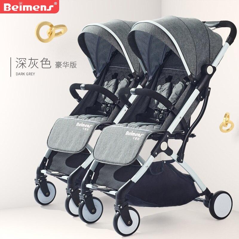 2019 twins baby stroller ultra light folding umbrella baby s