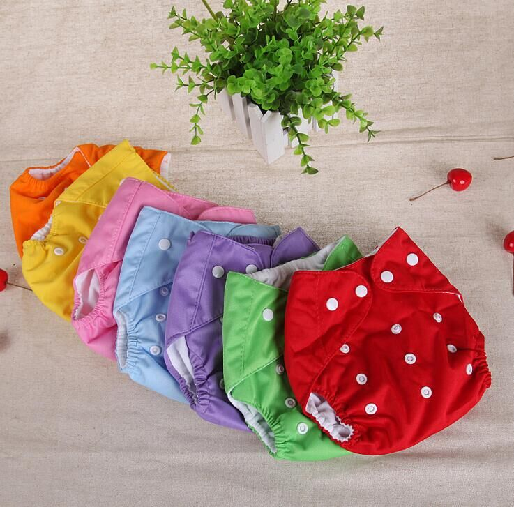 Baby Diapers Washable Reusable Nappies Grid/Cotton Training Pant Cloth Diaper Baby Fraldas Winter Summer Version Diapers #54 ...