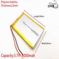126090 3.7 V lithium polymère 8000 mah bricolage mobile batterie de charge de secours