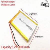 126090 3 7 V lithium-polymer 8000 mah DIY mobile notfall power lade batterie