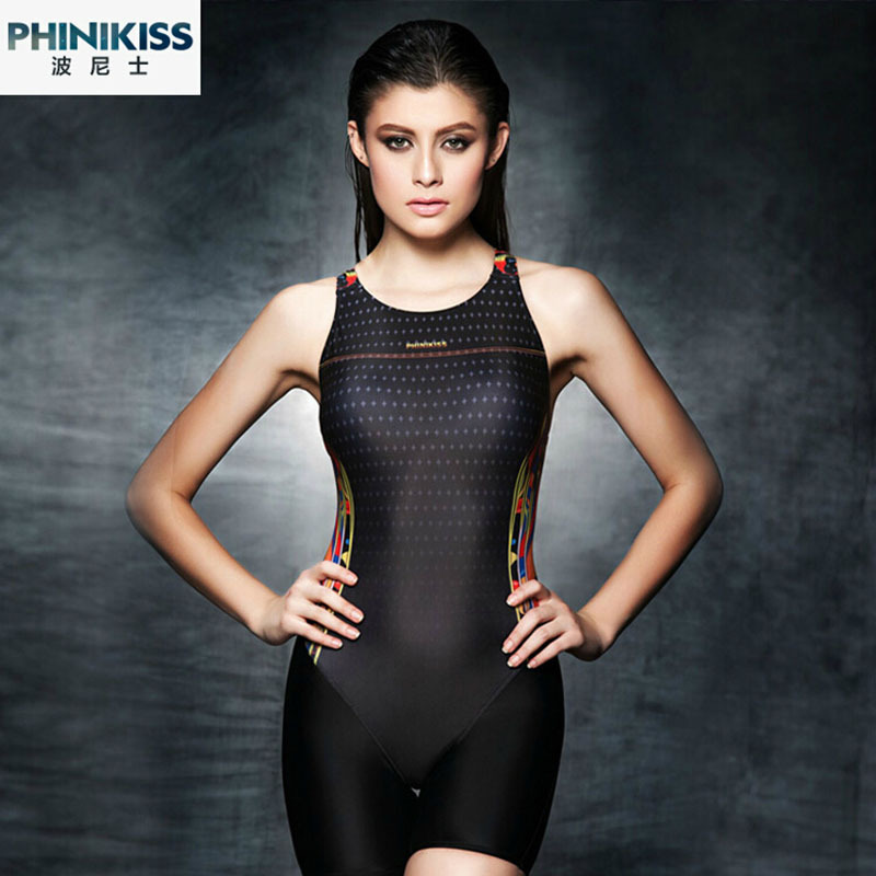 Phinikiss Swimwear Women 2017 Arena Swimsuit Girls One Piece Black Plavky Competition Swimming Suit For Women Swimsuits Printing