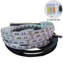 5M/lot RGBWW LED Strip,5 color in 1 led chip SMD 5050 flexible light RGB+cool White&warm white,60Leds/m IP30/67;DC12V/24V