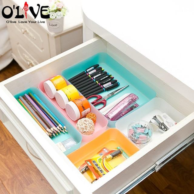 Multifunction drawer organizer transparent plastic storage - Organizador cajon oficina ...