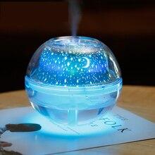 Kristal gece lambası LED ışık yıldız gökyüzü dekoratif renkli ampul projektör ev ofis için 500ml hava nemlendirici USB masaüstü sis