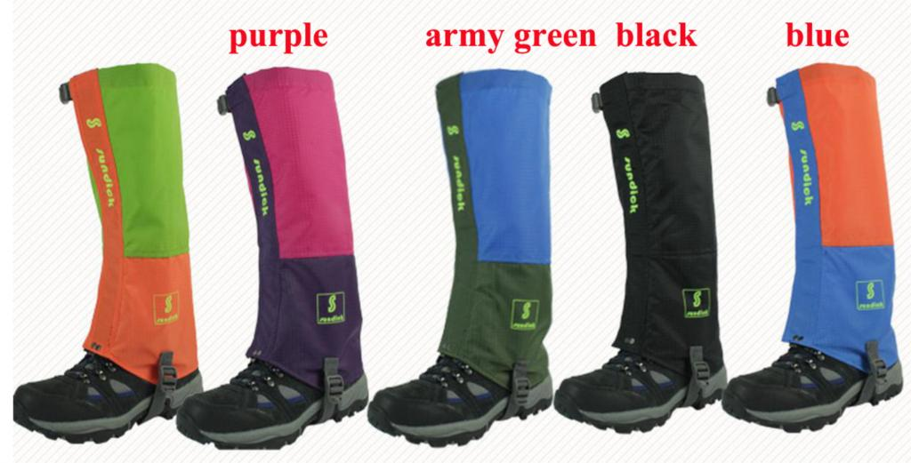 Breathable Gaiters Snow Road Shoes Covers High Waterproof for Climbing/Hiking/Skiing Boot Protection a82DPCO