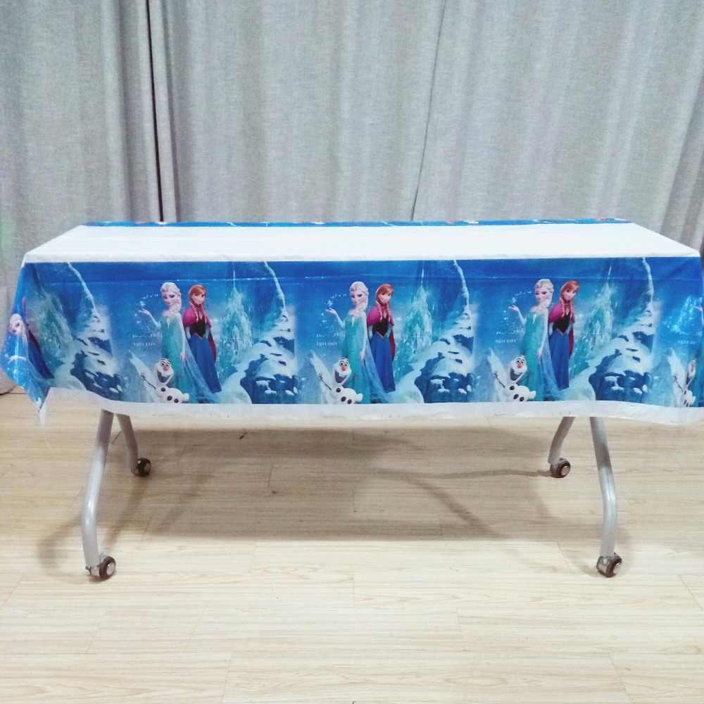Disney princesa congelado anna elsa festa de aniversário decorações suprimentos crianças utensílios de mesa copos banner menina favores presentes conjunto