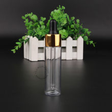 50pcs/lot 100% Excellent 30ml Clear Cosmetic Bottle 30g Plastic Sample Vial With Pipette Dropper Refillable Jar Travel Pot