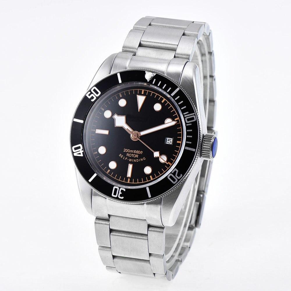 Mężczyzna zegarka wodoodporna automatyczne mechaniczne zegarki na rękę zegar luksusowe top marka męskie sterylne dial sukienka Masculino Reloj hombre w Zegarki mechaniczne od Zegarki na  Grupa 2
