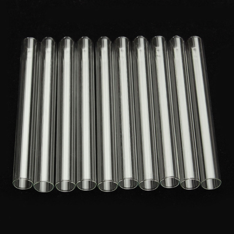 Kicute pcs clear glass test tube u shaped bottom long