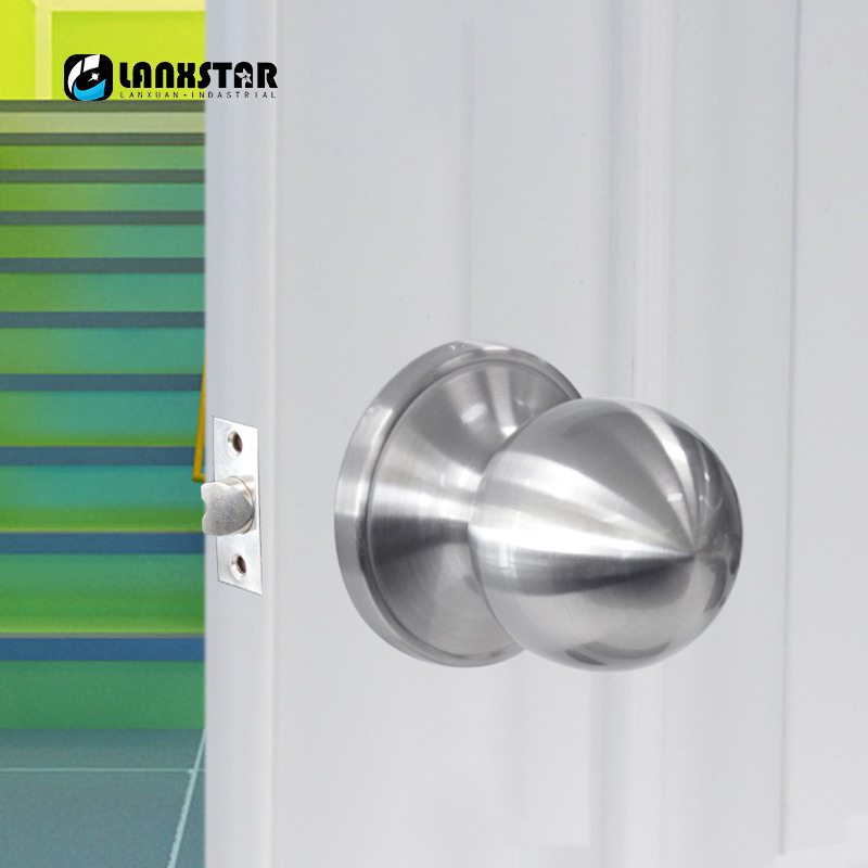 Classical Stainless Steel Passage Keyless Door Lock Satin Nickel