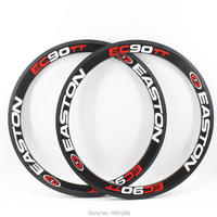 2pcs Newest EC90TT 700C 50mm Road Fixed Gear Track Bicycle Aero 3K UD 12K Full Carbon