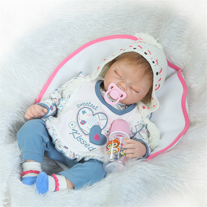 50cm Fashion Newborn Dolls Sweet Kiss Simulation Silicone Cotton Baby Bonecas Sleeping Pacifier Bedtime Education Birthday Gifts детский костюм kiss baby 94558 2015