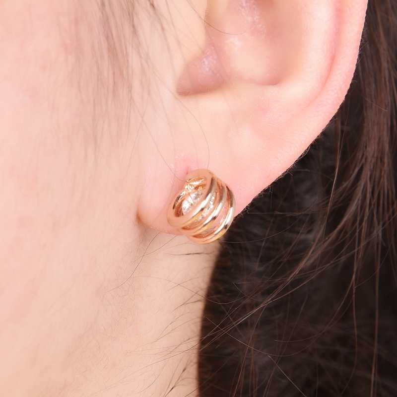 2d6fd3292 ... ROXI Brand Zircon Circle Earring Rose Gold Color CZ Stud Earring for Women  Jewelry Charm Online