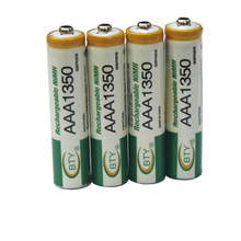 4pcs AAA 350mAh Free shipping High Quanlity 1.2V 350mAh AAA Battery Ni-MH Rechargeable Battery 1.2V Battery