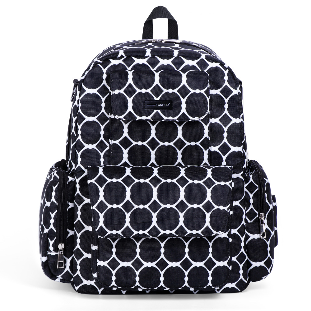 Image 3 - LAND Mommy Diaper Bags Mother Large Capacity Travel Nappy Backpacks with anti loss zipper Baby Nursing Bags drop ship-in Diaper Bags from Mother & Kids