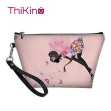 Thikin Elegant Ballet Makeup Bags for Women Girls Cosmetic Bag Travel Handbag Case Pouch Rock Storage Purse