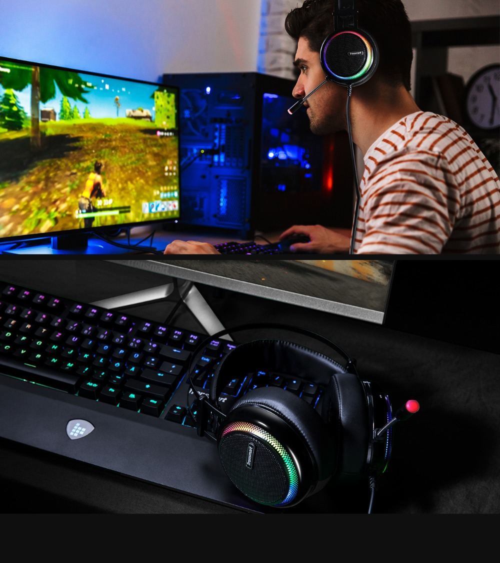 Tronsmart Glary Gaming Headset ps4 headset Virtual 7.1,USB Interface Gaming Headphones for xbox,nintendo switch,computer,Laptop 08