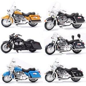 Image 1 - 1/18 échelle enfants maisto mini FLHR route roi moulé sous pression en métal modèle moto Cruiser véhicules de tourisme vélo jouets pour enfants