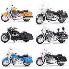 1/18 ילדי סולם maisto מיני FLHR כביש המלך Diecast מתכת דגם אופנוע קרוזר סיור כלי רכב אופני צעצועים לילדים