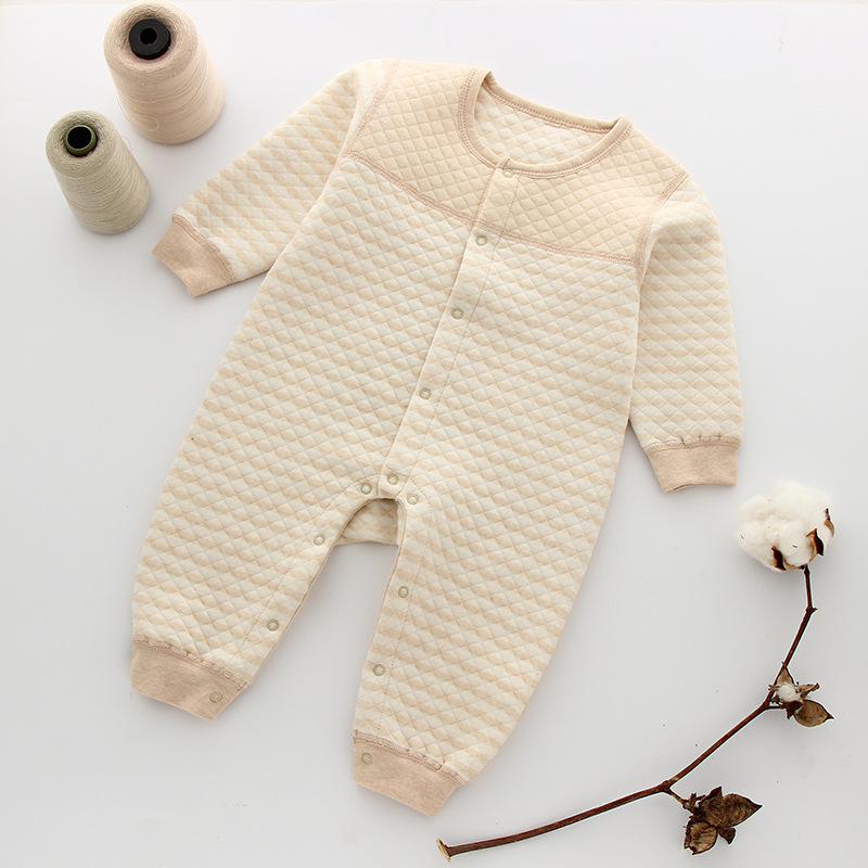 New Baby Boy Rompers Autumn Winter Thick Warm Newborn Infant Romper Organic Cotton Baby Girl Clothes Babies Long Sleeve Jumpsuit baby boy rompers cotton newborn baby clothes bateman superman kid girl clothes long sleeve baby boy clothing set infant jumpsuit