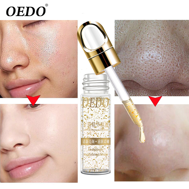 OEDO Shrink Pores Gold Hyaluronic Acid liquid Moisturizing Face Serum Whitening Plant Skin Care Anti Aging Anti Wrinkle Cream  1