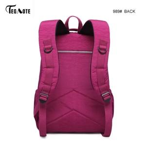 Image 3 - TEGAOTE School Bag Waterproof Nylon Brand Laptop Backpacks For Teenager Women Backpack Leisure Shoulder Bags Computer Packsack