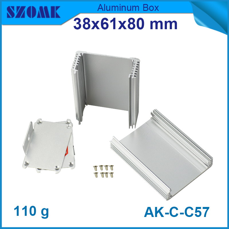 4 pieces small aluminium metal enclosure box extrusion case 38*61*80mm  1.5*2.4*3.15inch 10pcs lot aluminium extrusion enclosure small electronics switch case for pcb broad 25x58x85mm