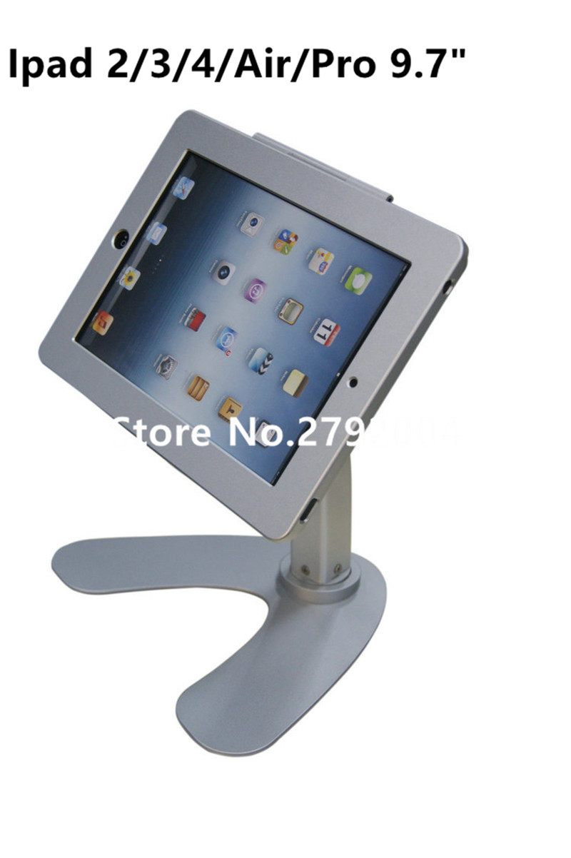 for ipad 2/3/4/air/pro 9.7 table rotation stand security lock housing kiosk POS display  ...